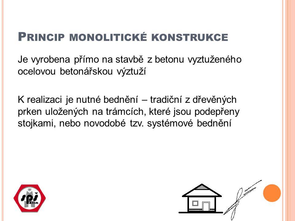 Princip monolitické konstrukce