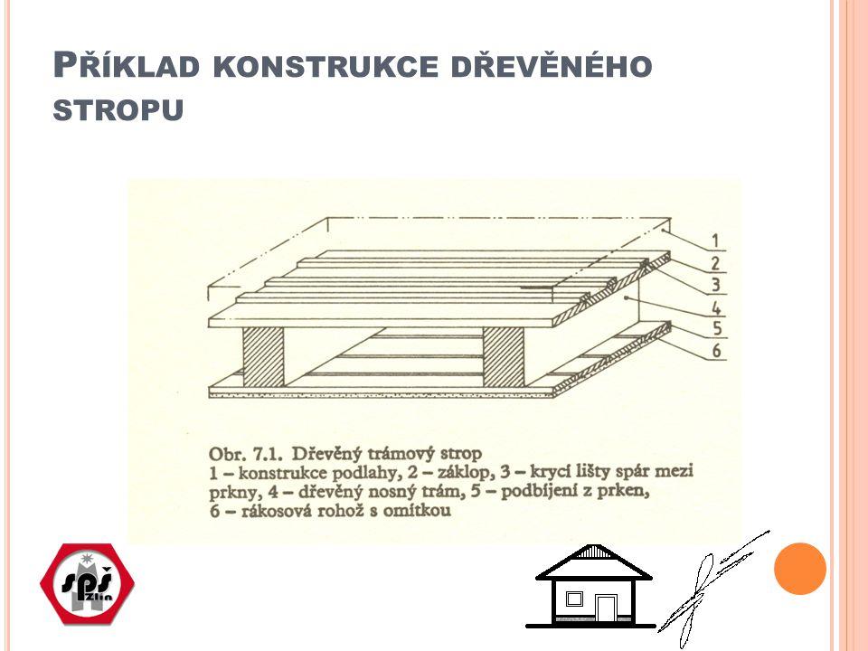 Příklad konstrukce dřevěného stropu