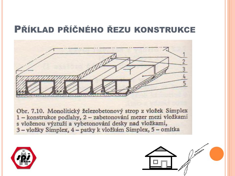 Příklad příčného řezu konstrukce