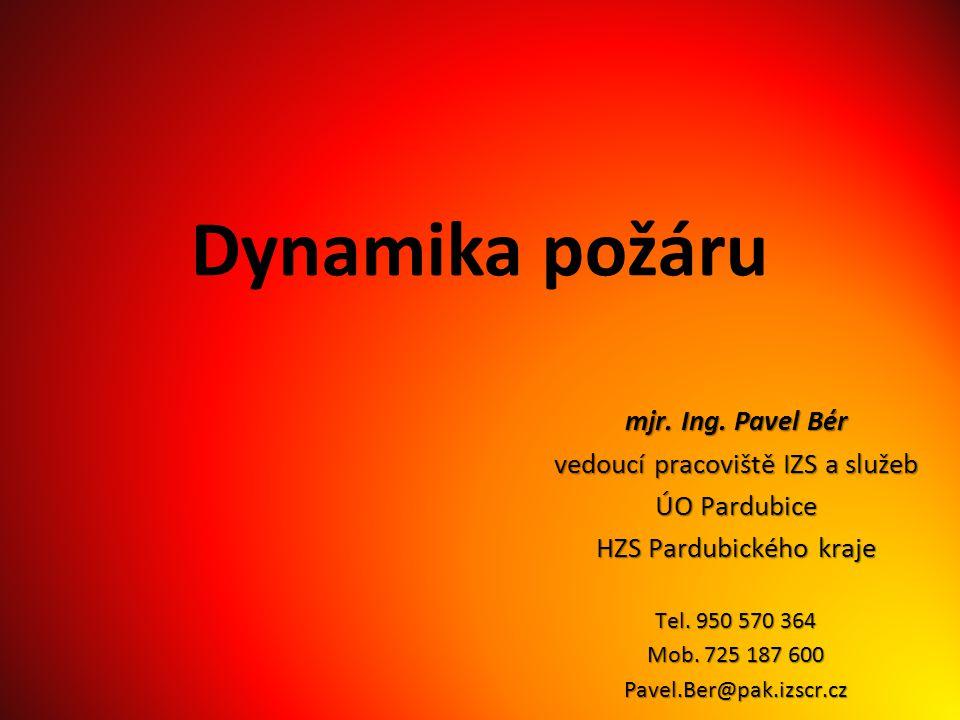 Dynamika požáru mjr. Ing. Pavel Bér vedoucí pracoviště IZS a služeb
