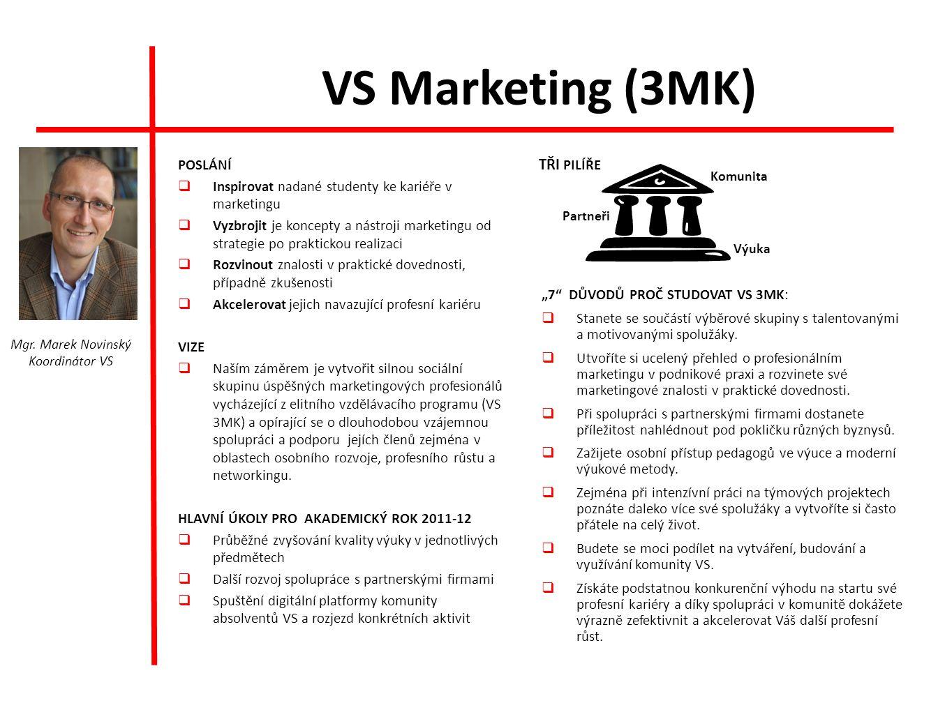 VS Marketing (3MK) TŘI PILÍŘE POSLÁNÍ