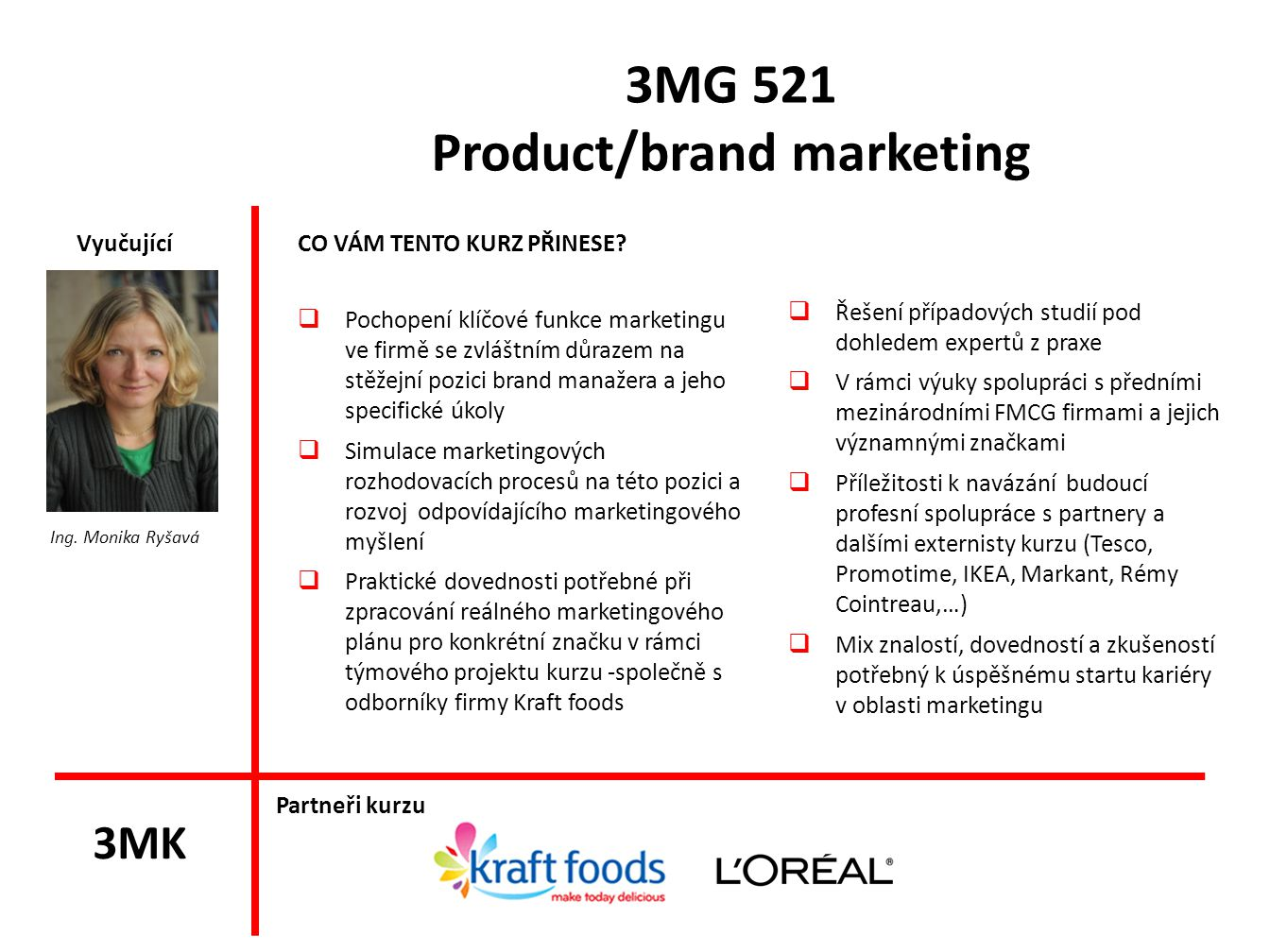 3MG 521 Product/brand marketing