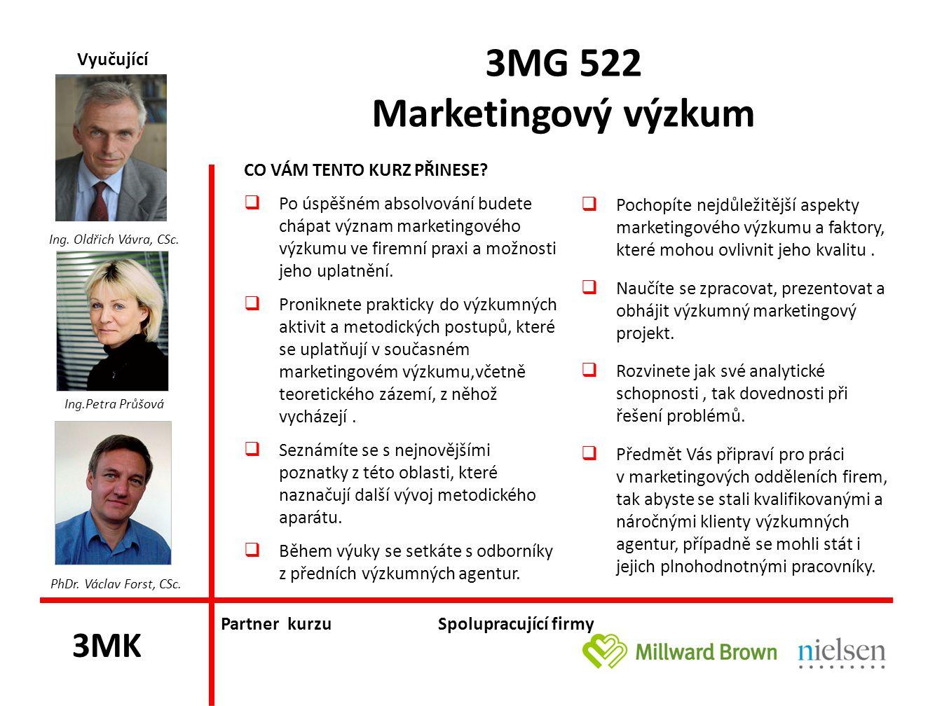 3MG 522 Marketingový výzkum
