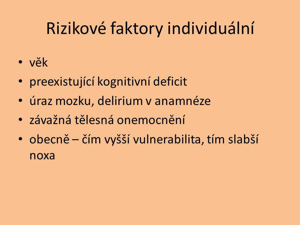 Rizikové faktory individuální