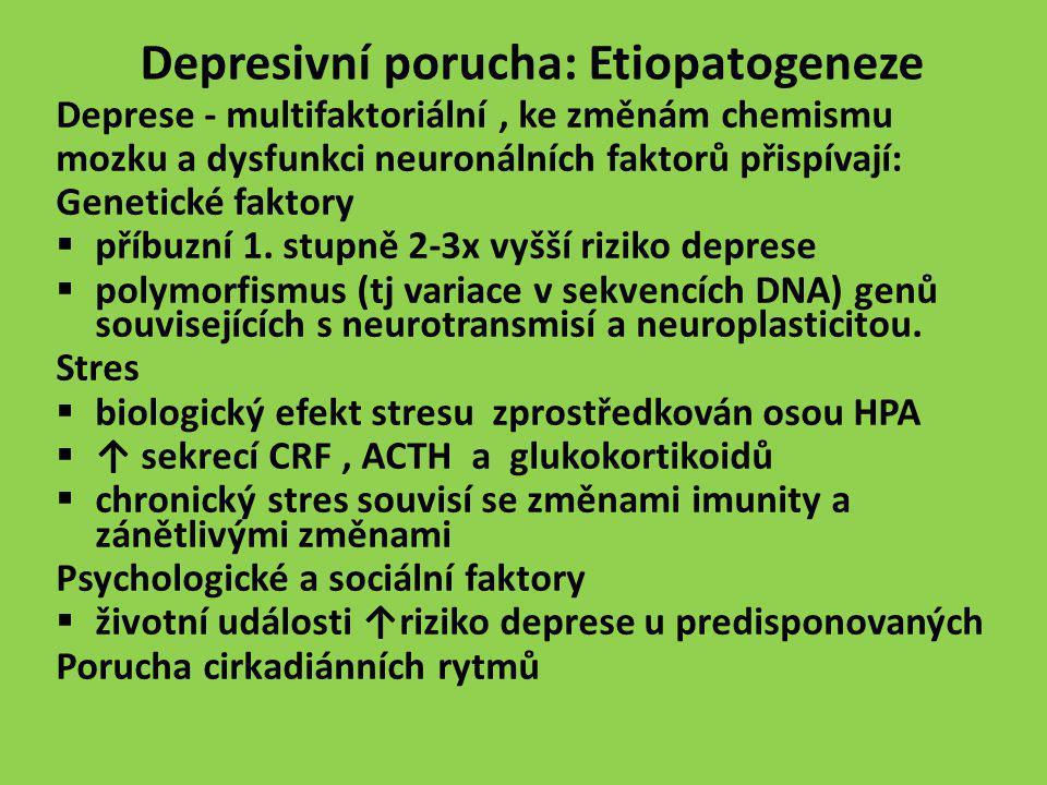 Depresivní porucha: Etiopatogeneze