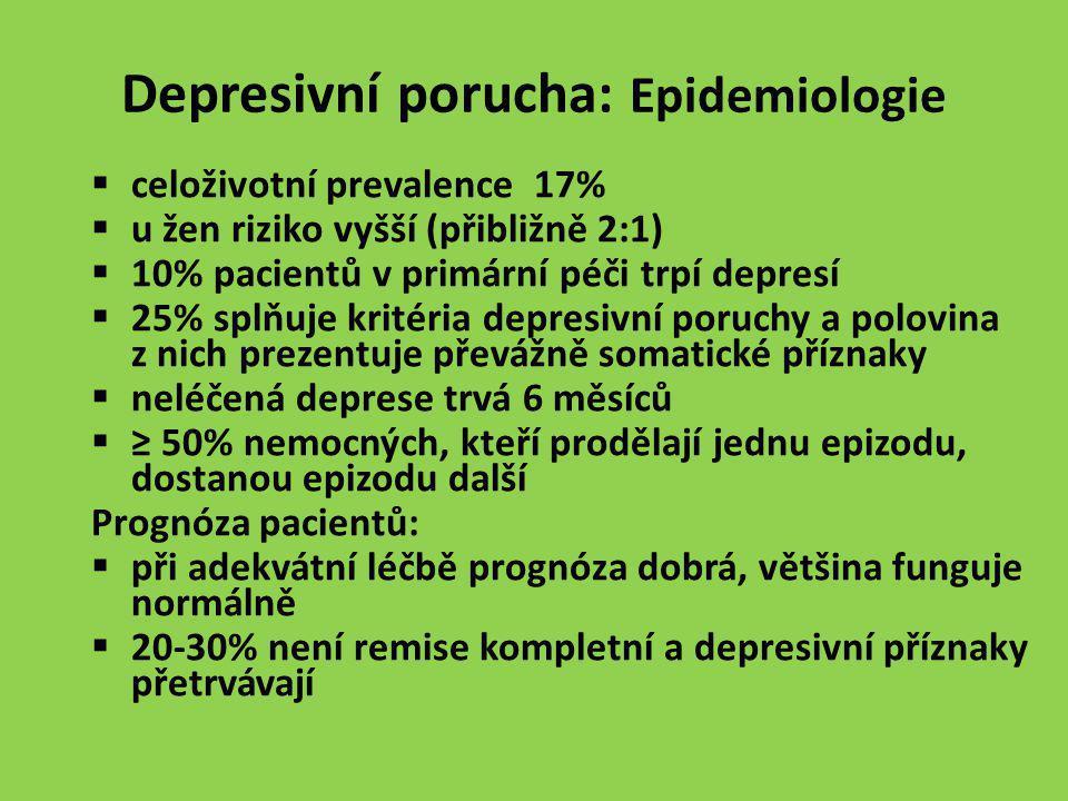 Depresivní porucha: Epidemiologie