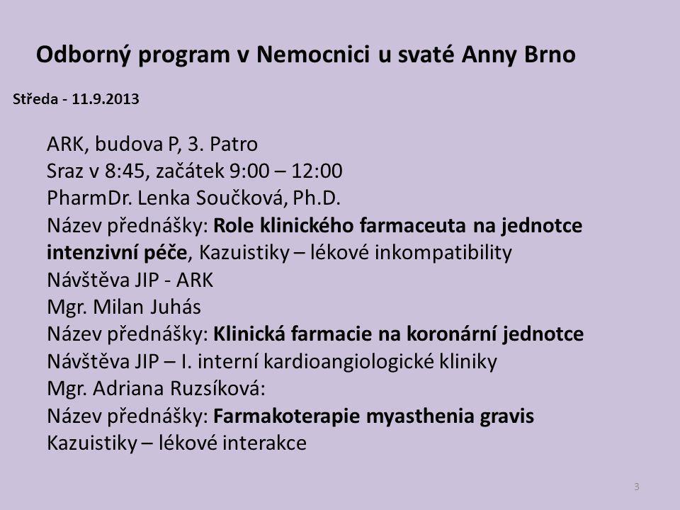 Odborný program v Nemocnici u svaté Anny Brno