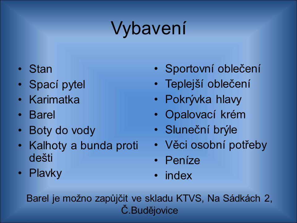 Barel je možno zapůjčit ve skladu KTVS, Na Sádkách 2, Č.Budějovice