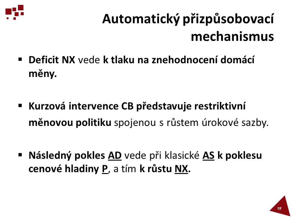 Automatický přizpůsobovací mechanismus
