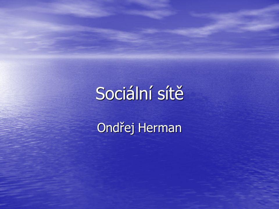Sociální sítě Ondřej Herman