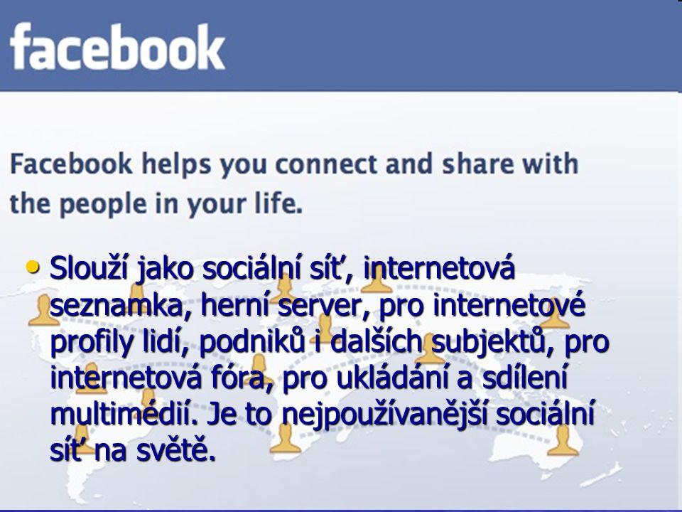 Slouží jako sociální síť, internetová seznamka, herní server, pro internetové profily lidí, podniků i dalších subjektů, pro internetová fóra, pro ukládání a sdílení multimédií.