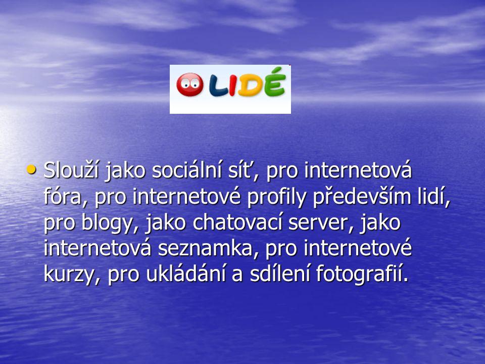 Slouží jako sociální síť, pro internetová fóra, pro internetové profily především lidí, pro blogy, jako chatovací server, jako internetová seznamka, pro internetové kurzy, pro ukládání a sdílení fotografií.