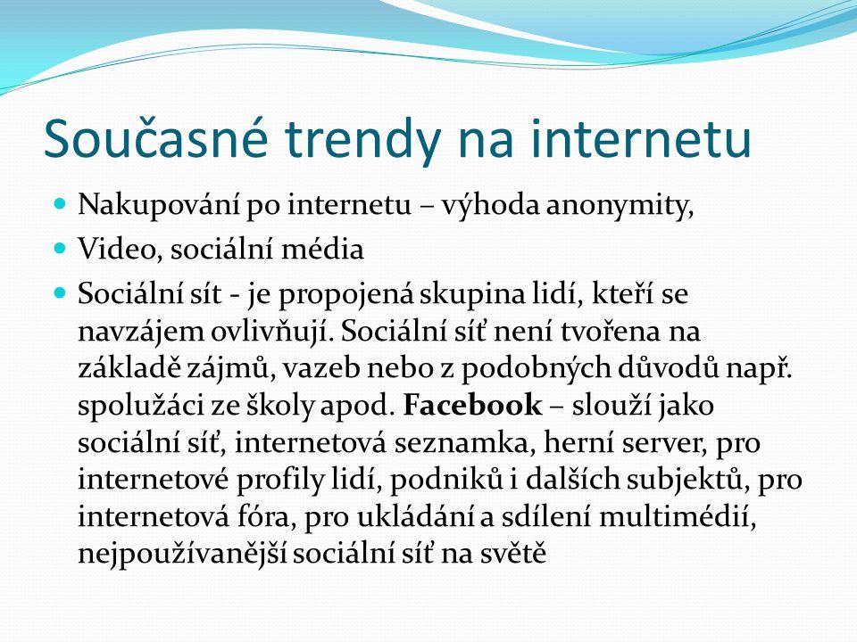 Současné trendy na internetu