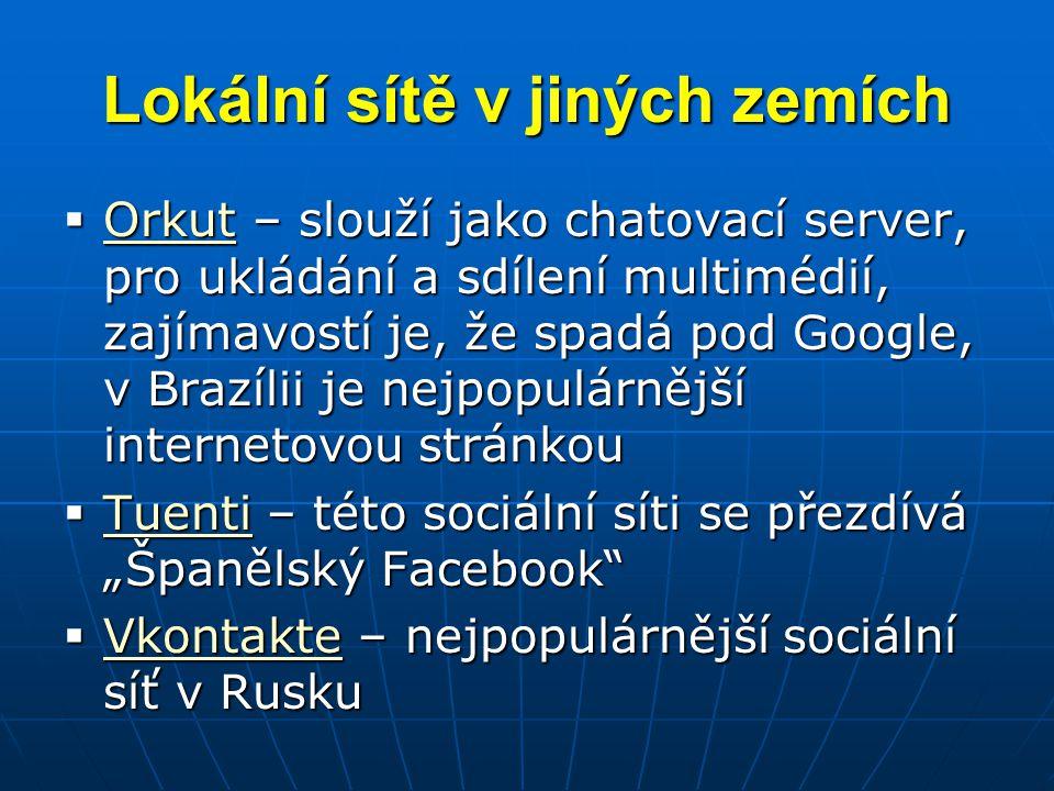 Lokální sítě v jiných zemích