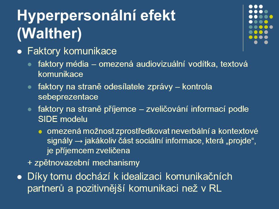 Hyperpersonální efekt (Walther)