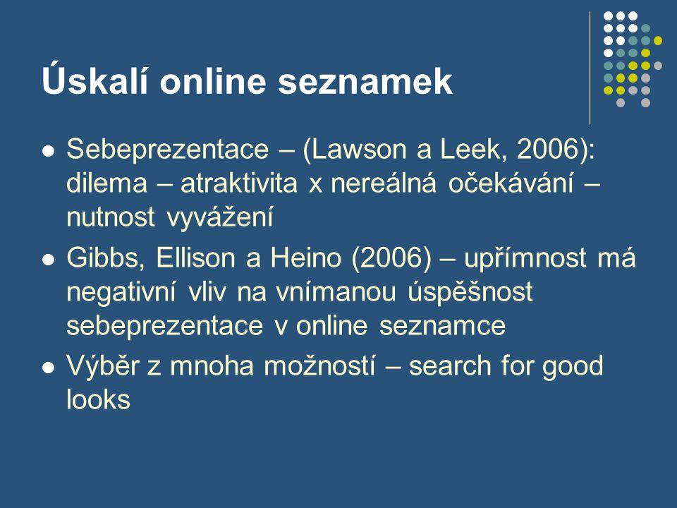 Úskalí online seznamek