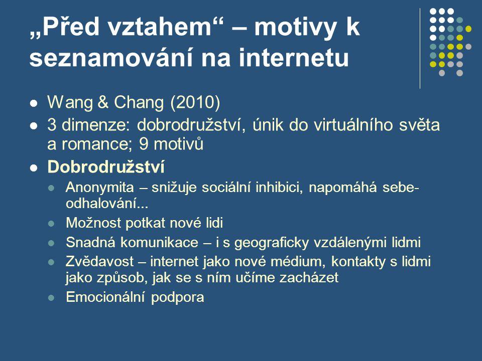 """""""Před vztahem – motivy k seznamování na internetu"""