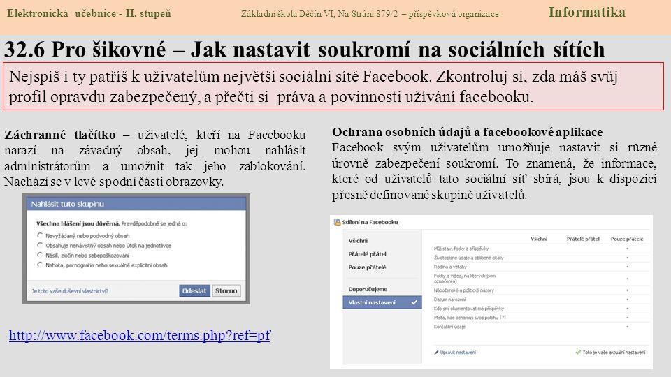 32.6 Pro šikovné – Jak nastavit soukromí na sociálních sítích