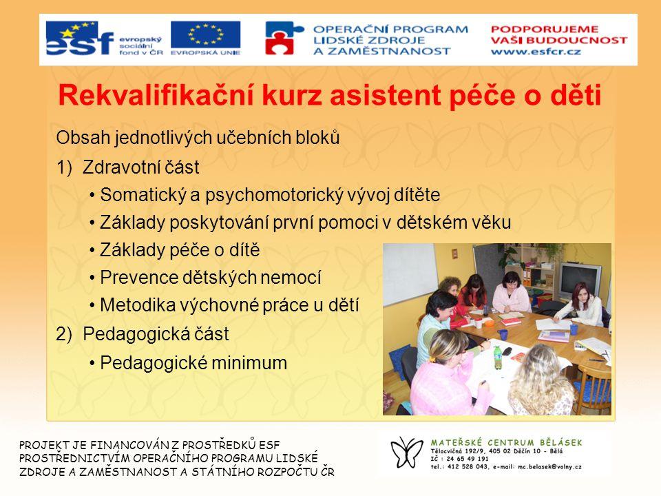 Rekvalifikační kurz asistent péče o děti