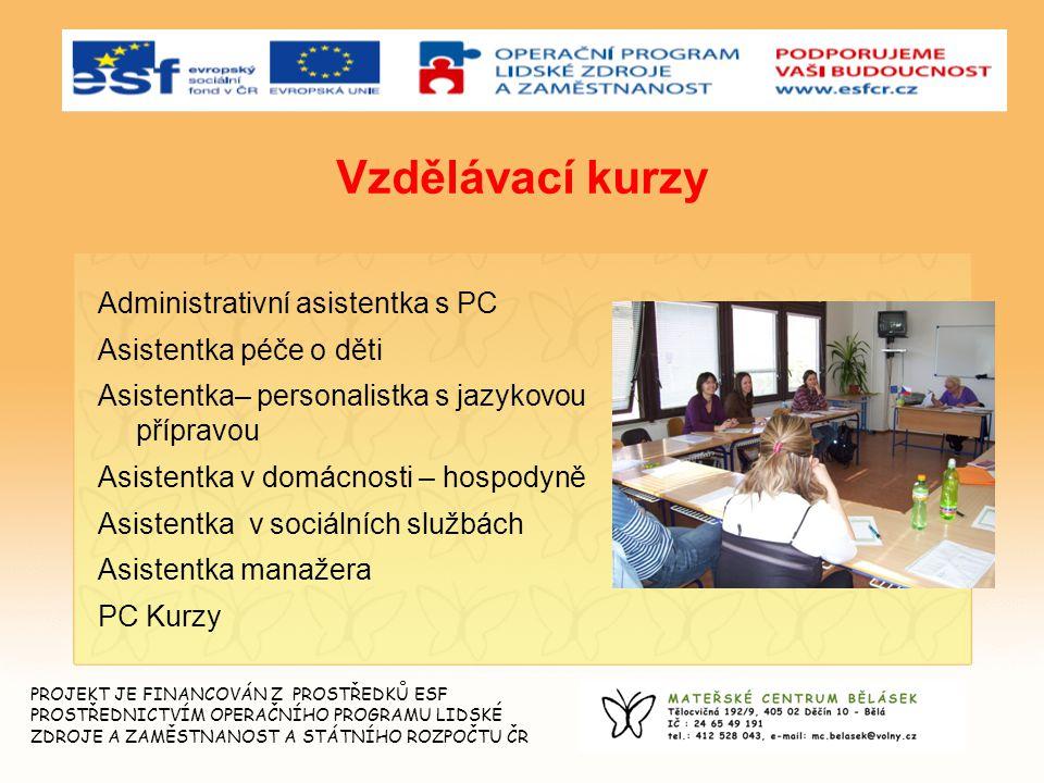 Vzdělávací kurzy Administrativní asistentka s PC