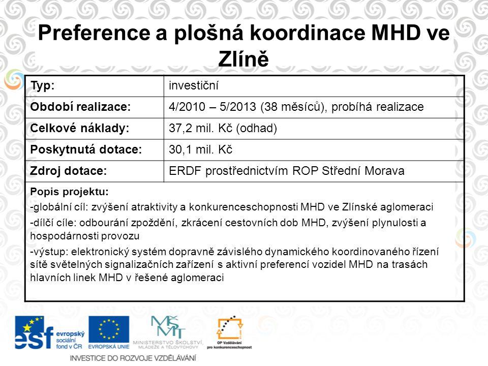 Preference a plošná koordinace MHD ve Zlíně