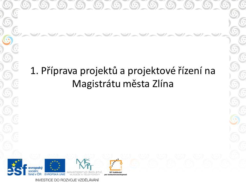 1. Příprava projektů a projektové řízení na Magistrátu města Zlína