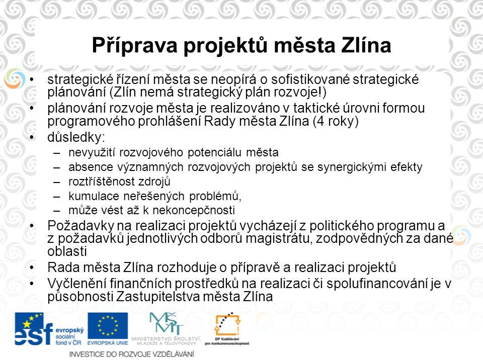 Příprava projektů města Zlína