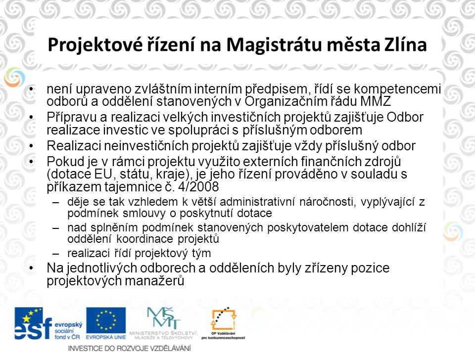 Projektové řízení na Magistrátu města Zlína