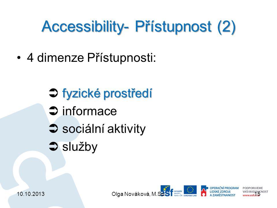 Accessibility- Přístupnost (2)