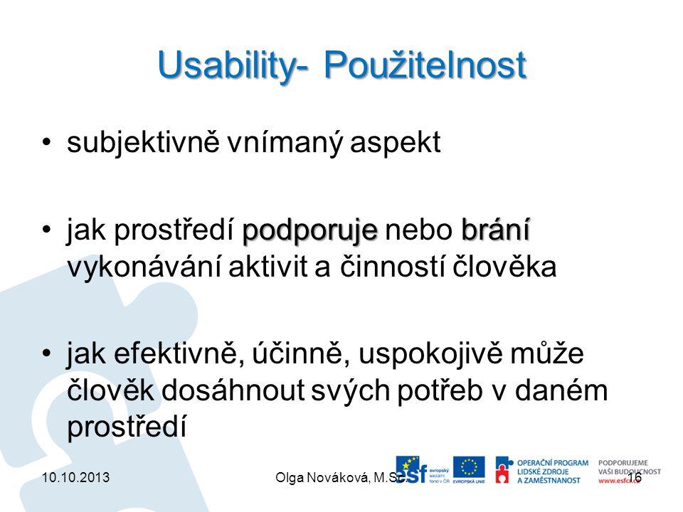 Usability- Použitelnost
