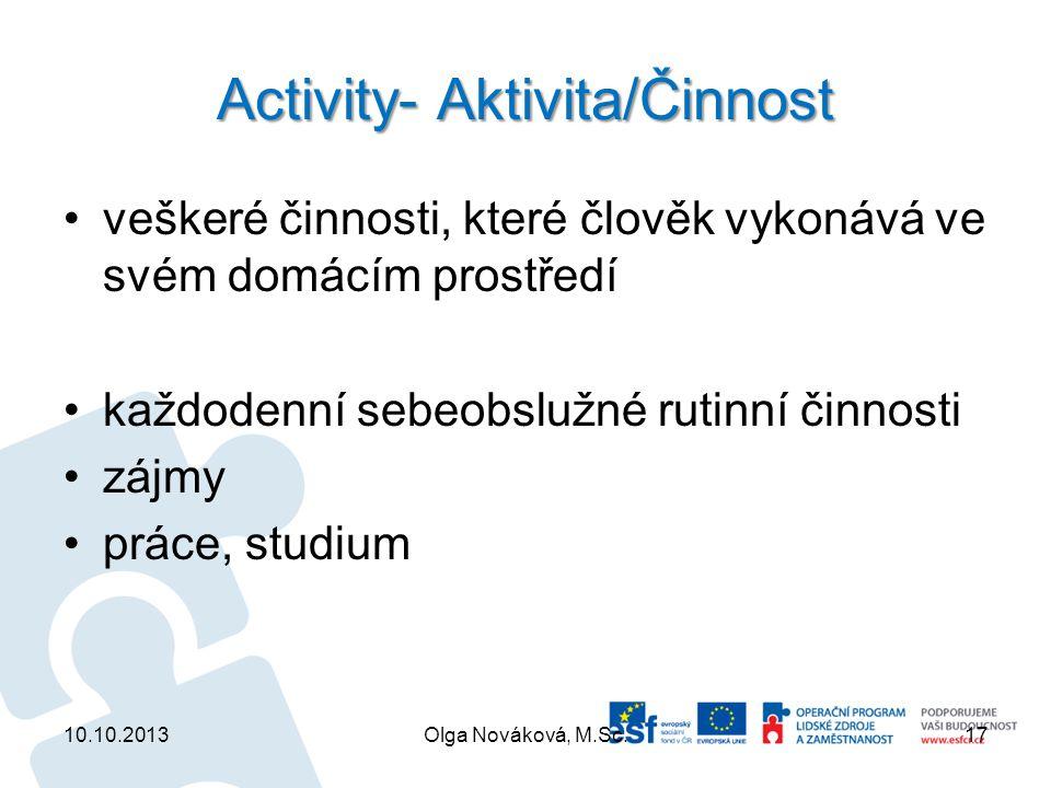 Activity- Aktivita/Činnost