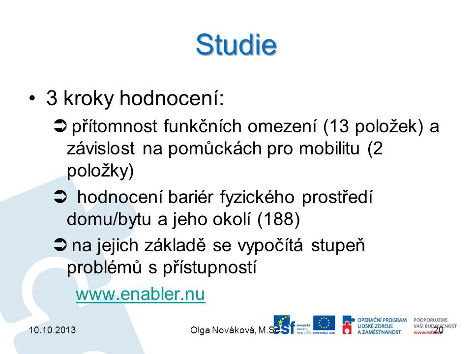 Studie 3 kroky hodnocení: