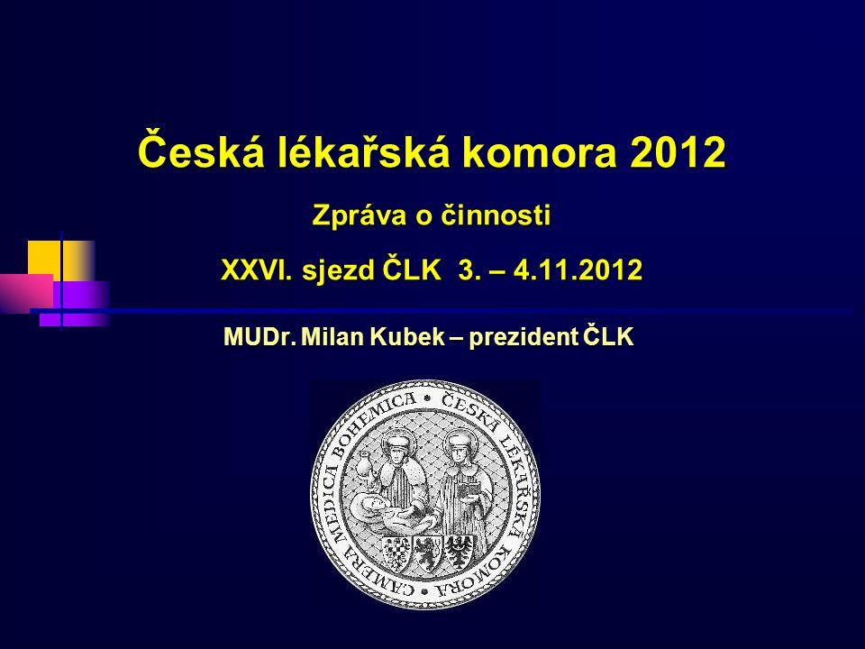 MUDr. Milan Kubek – prezident ČLK