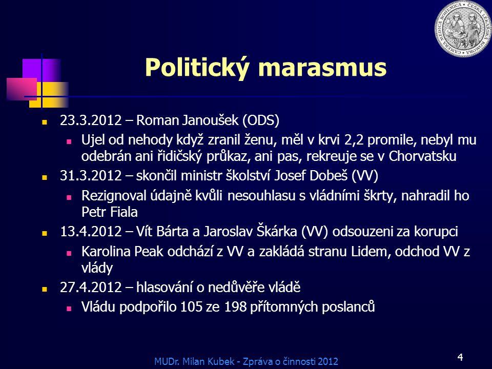 Politický marasmus 23.3.2012 – Roman Janoušek (ODS)