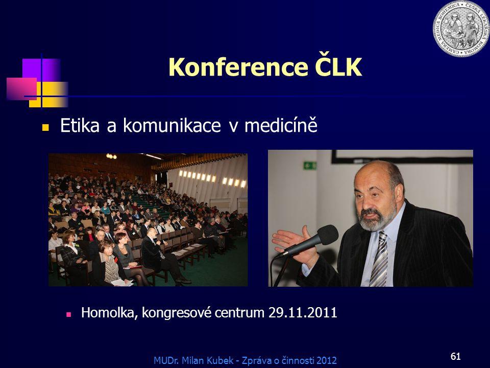Konference ČLK Etika a komunikace v medicíně