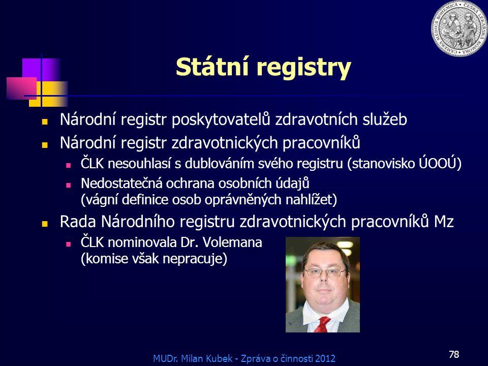 Státní registry Národní registr poskytovatelů zdravotních služeb