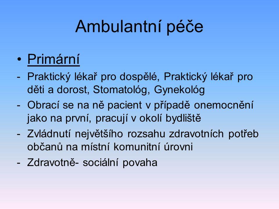 Ambulantní péče Primární