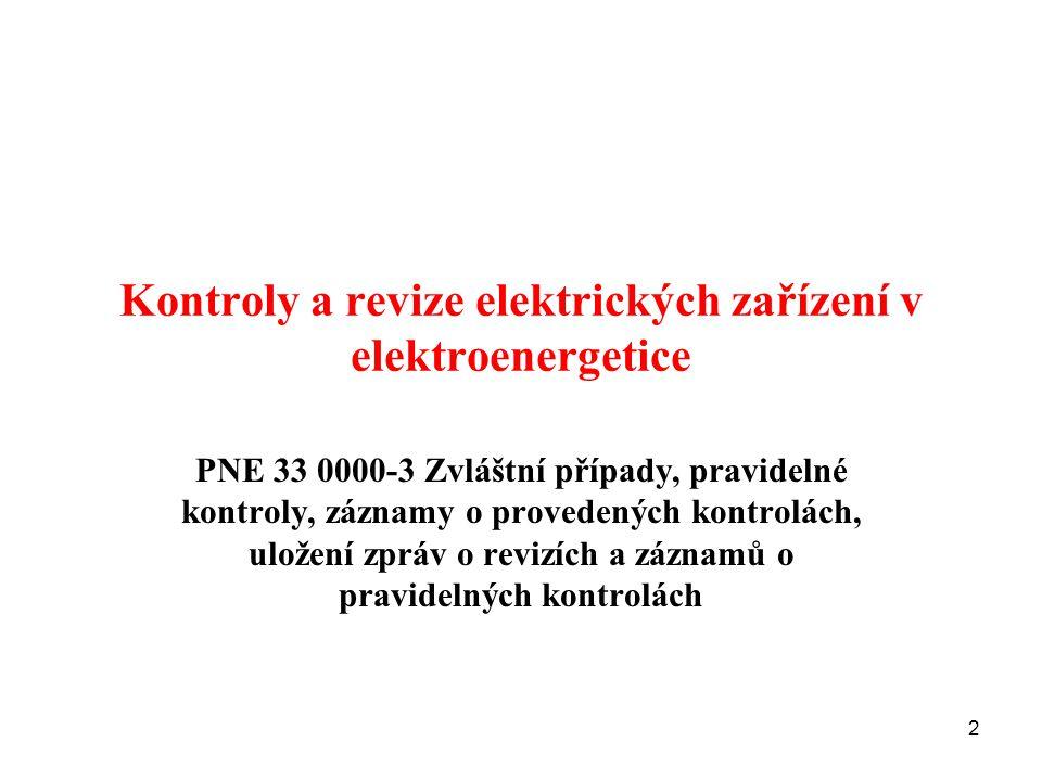 Kontroly a revize elektrických zařízení v elektroenergetice