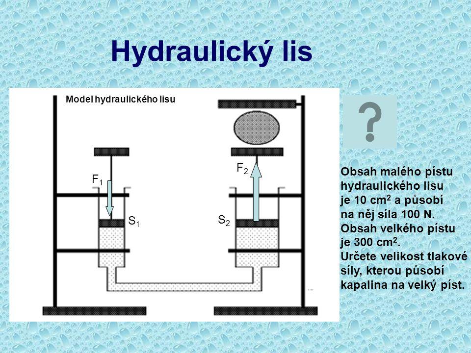 Hydraulický lis F2 Obsah malého pístu hydraulického lisu