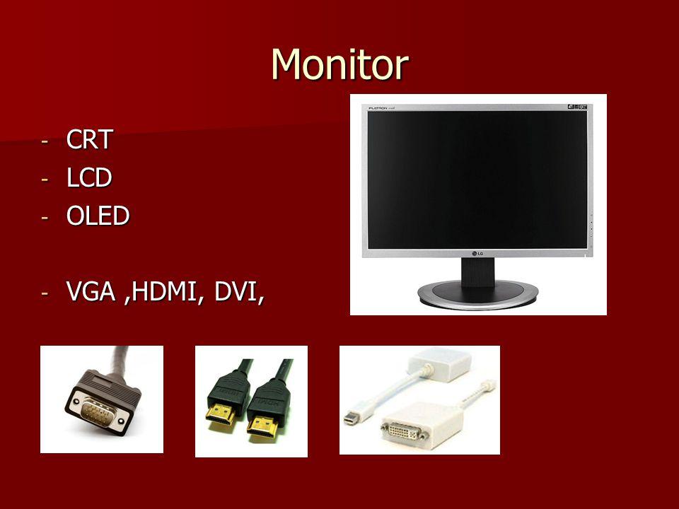 Monitor CRT LCD OLED VGA ,HDMI, DVI,