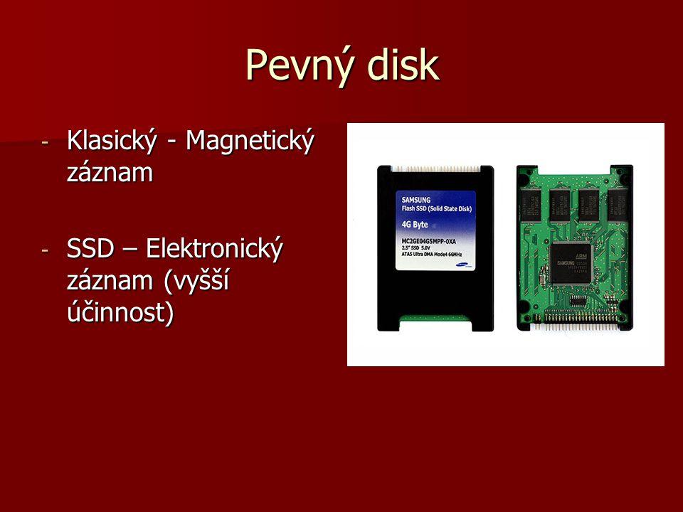 Pevný disk Klasický - Magnetický záznam