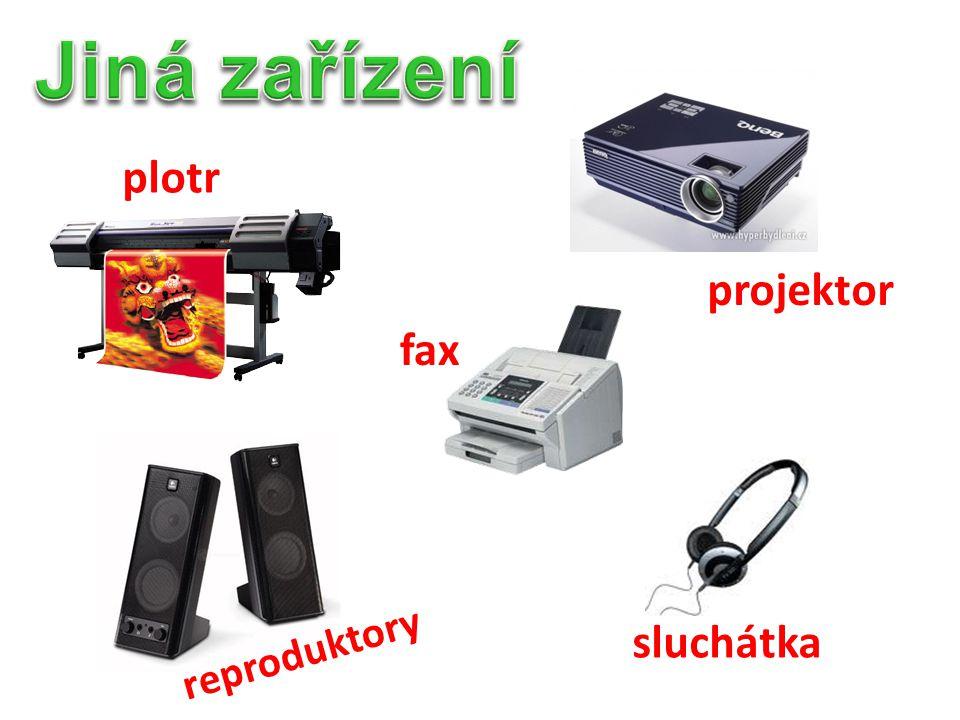 Jiná zařízení plotr projektor fax sluchátka reproduktory