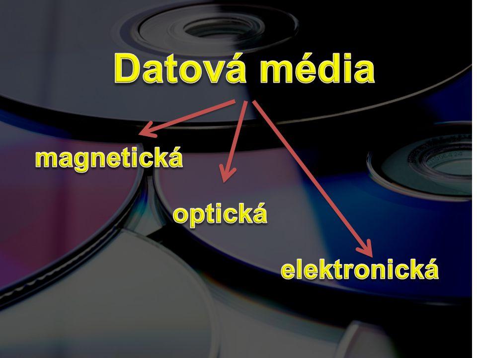 Datová média magnetická optická elektronická