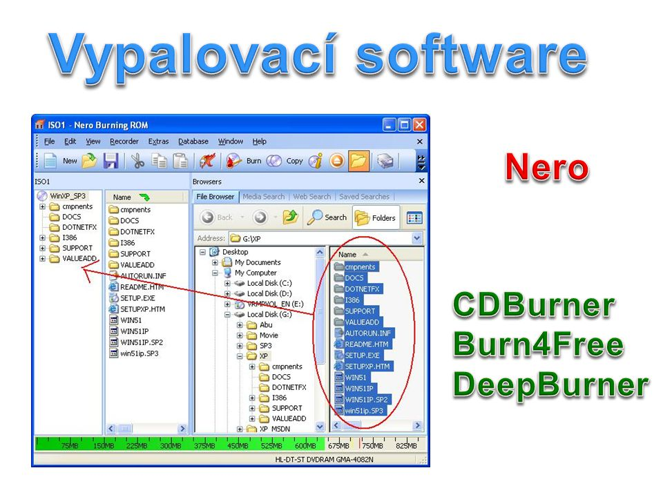 Vypalovací software Nero CDBurner Burn4Free DeepBurner