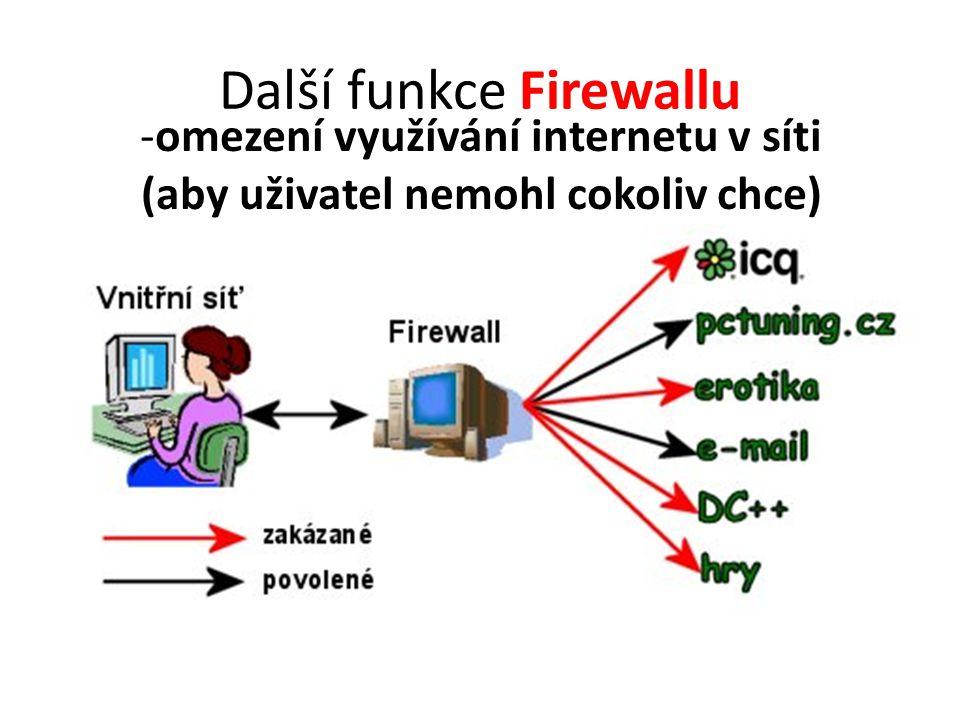 Další funkce Firewallu