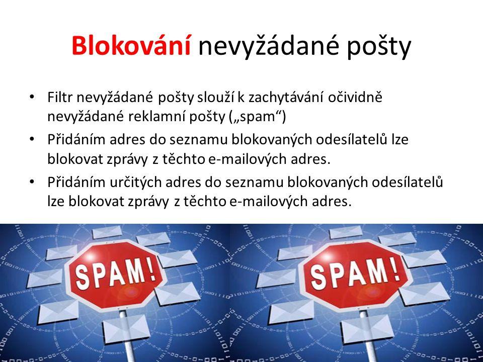 Blokování nevyžádané pošty