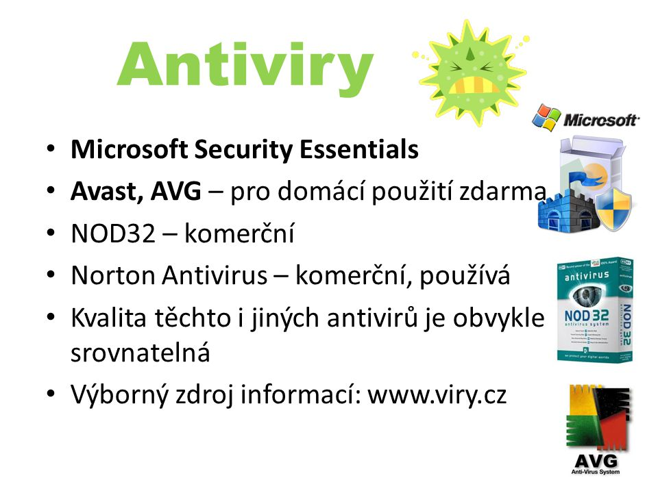 Antiviry Microsoft Security Essentials