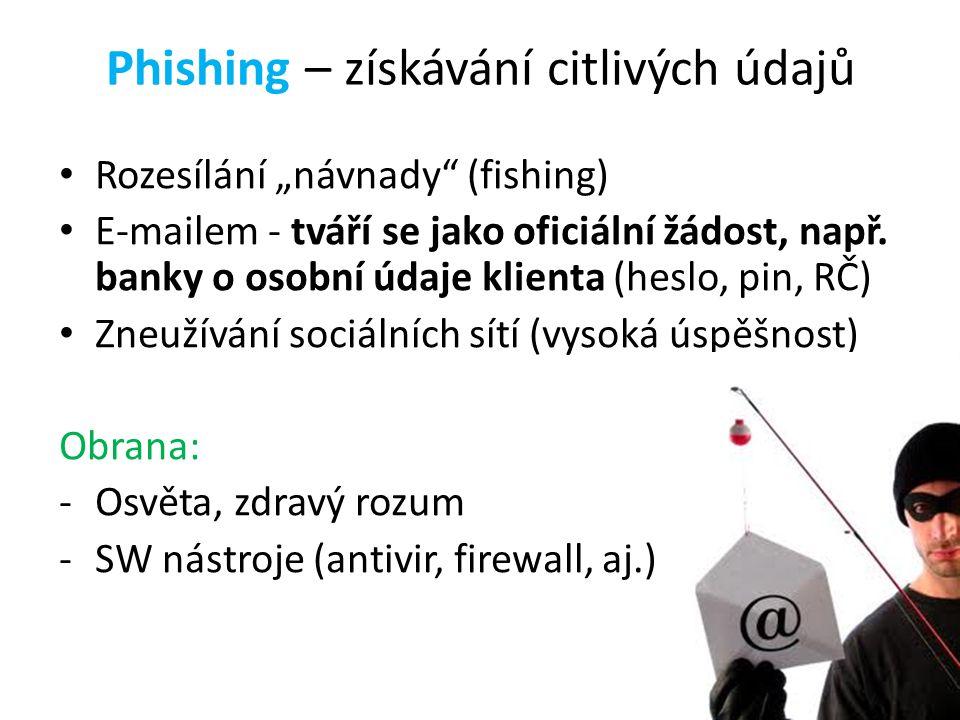 Phishing – získávání citlivých údajů