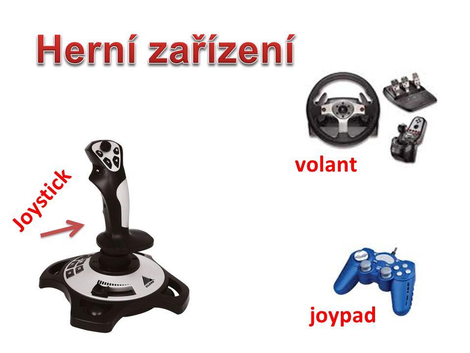 Herní zařízení volant Joystick joypad