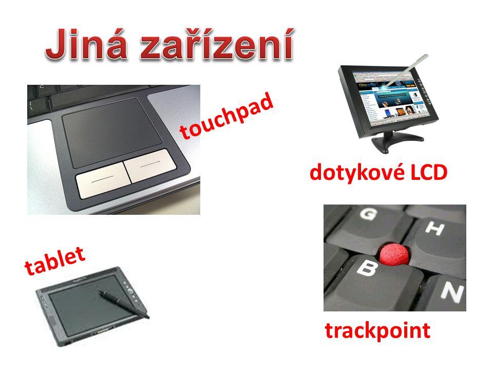 Jiná zařízení touchpad dotykové LCD tablet trackpoint
